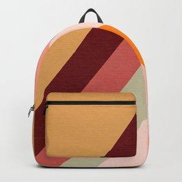 Retro Rainbow Peak with Sun  Backpack