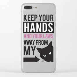 Women March Hands Clear iPhone Case