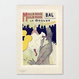 vintage bal tous les soirs la goulue Vintage Poster Canvas Print