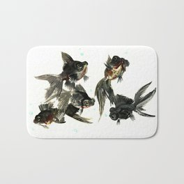 Black Moor, Feng Shui Art, design black fish art, aquarium Bath Mat