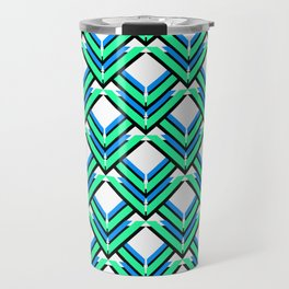 Blue Green Pattern Travel Mug