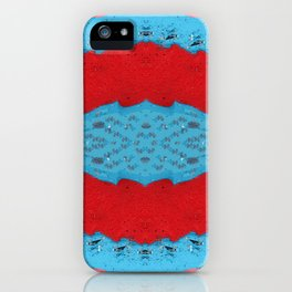Red Stream Marble Painting iPhone Case