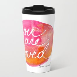 You Are Loved Inky Dot by Lara Cornell Metal Travel Mug