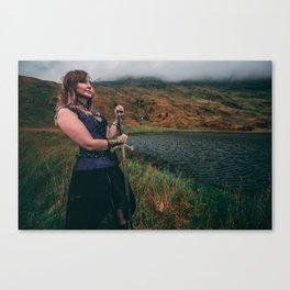 Lady & The Loch v2 Canvas Print
