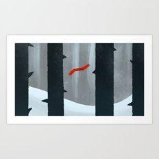Lost Scarf Art Print