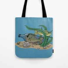 The Fish and the Bottle Tote Bag