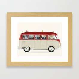 teds on tour Framed Art Print