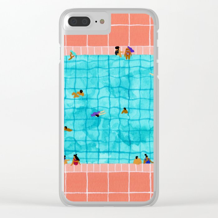 Coral Pool Clear iPhone Case