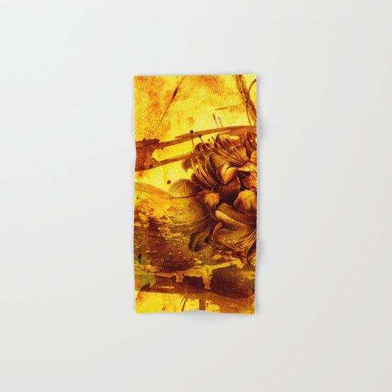 golden flower Hand & Bath Towel