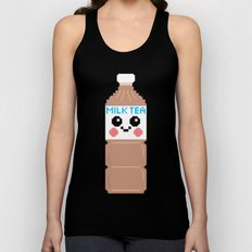 Happy Pixel Milk Tea Unisex Tank Top