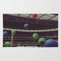 coldplay Area & Throw Rugs featuring Coldplay at Wembley by Efua Boakye