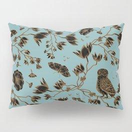 Orchid Owl Verdigris Pillow Sham