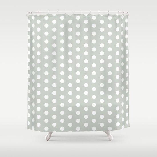 Polka Dot Sea Salt Shower Curtain