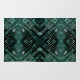 Black and green abstract pattern . Rug
