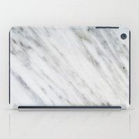 italian iPad Cases featuring Carrara Italian Marble by cafelab