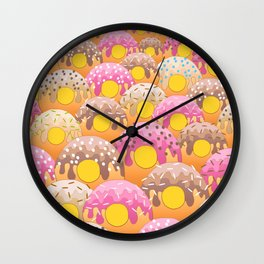 Donuts Wanderlust Yellow Gold Wall Clock