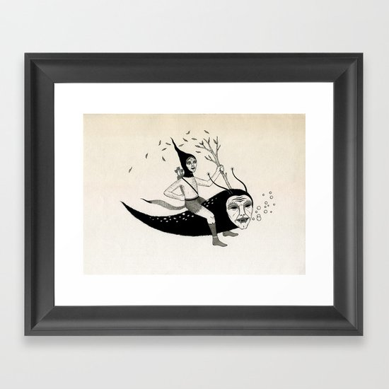 Joyous Flight Framed Art Print