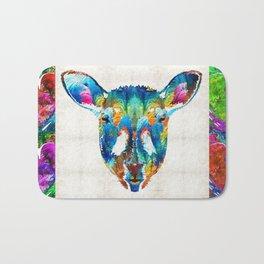 Colorful Sheep Art - Shear Color - By Sharon Cummings Bath Mat