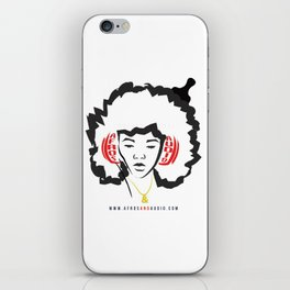 Afros & Audio Official Logo v2 iPhone Skin