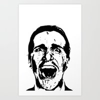 american psycho Art Prints featuring American Psycho by ginaxcuzzilla
