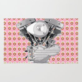 Portuguese Biker Collage for the ladies. Rug