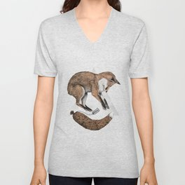 The Fox Who Lost His Tail Unisex V-Neck