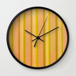 Stripes - Pumpkin Wall Clock
