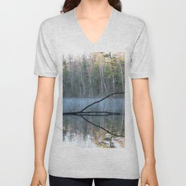 Reflections at Bluegill Pond Unisex V-Neck