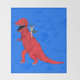 Dinosaur B Forever Throw Blanket