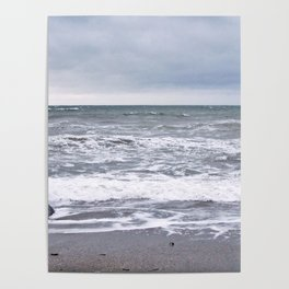 Cloudy Day on the Beach Poster