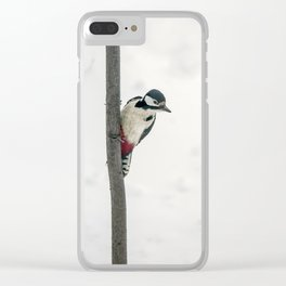 Knock, knock. Who's There? Woodpecker! Clear iPhone Case
