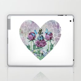 Alice In Wonderland - Wonderland Garden - Heart Shape Laptop & iPad Skin