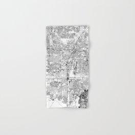 Las Vegas White Map Hand & Bath Towel