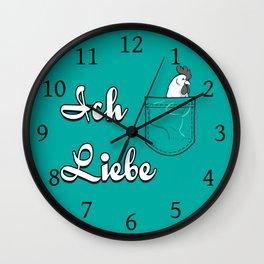 Ich Liebe Wall Clock