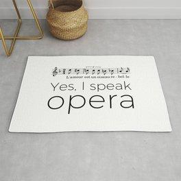 I speak opera (mezzo-soprano) Rug