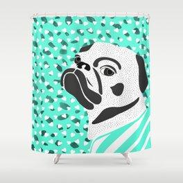 pug-dog 3 Shower Curtain
