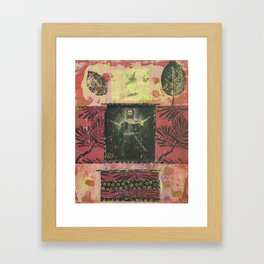 Kuan Yin + Leaves Framed Art Print