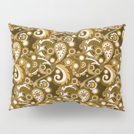 Golden Haze Paisley Pillow Sham