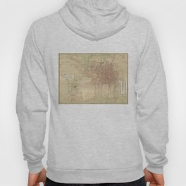 Vintage Map of Mexico City (1907) Hoody