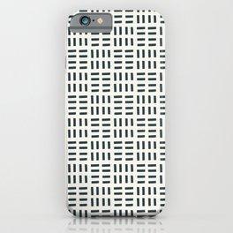 Navy Hatch iPhone Case