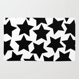 Lots of Black Stars Rug