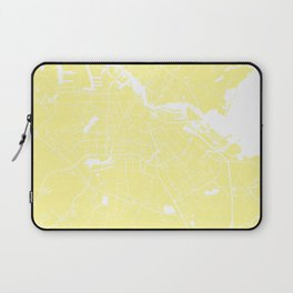 Amsterdam Yellow on White Street Map Laptop Sleeve