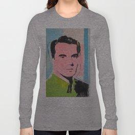 Feel the Byrne ! Original David Byrne Painting Long Sleeve T-shirt
