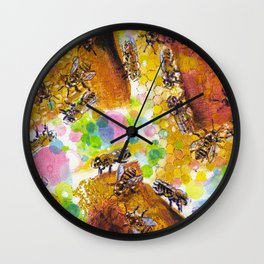 Bee-jewelled Wall Clock