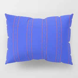 Simple design. Lines on an blue background. Pillow Sham