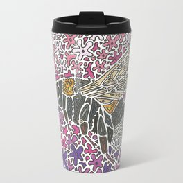 Vanishing Bee by Black Dwarf Designs Travel Mug