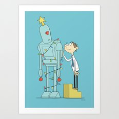 Robot Tree Art Print