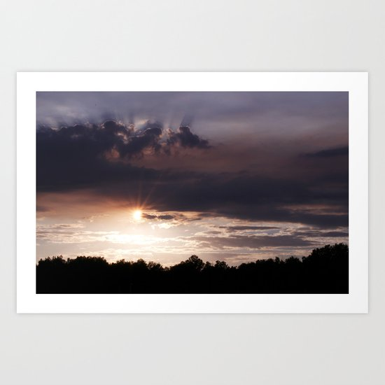 Sunset Rays Art Print