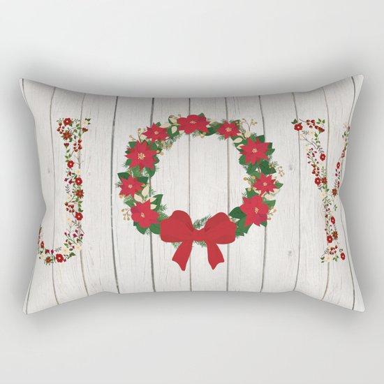 Joy Wreath #2 Rectangular Pillow
