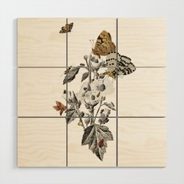 Insect Toile Wood Wall Art